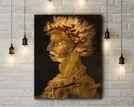 Arcimboldo: The Fire. Fine Art Canvas.
